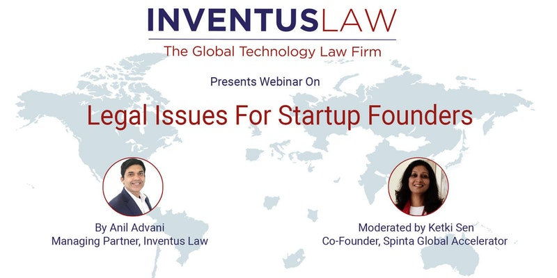 Webinar on Legal Issues for Startup Founders