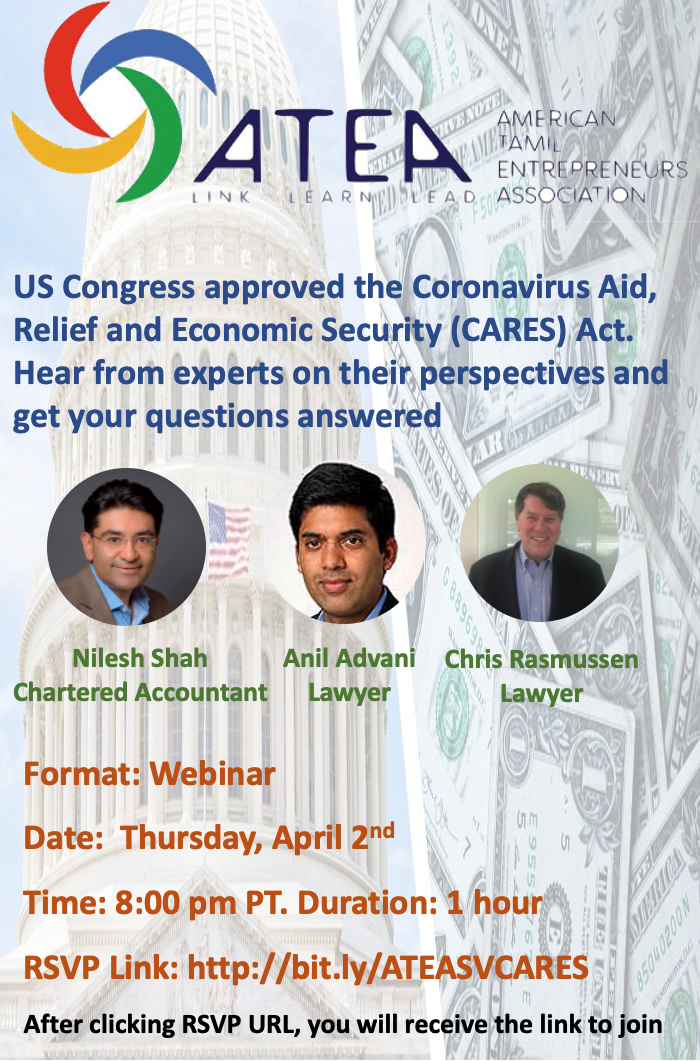 Joint Webinar with ATEA American Tamil Entrepreneurs Association