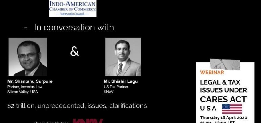 Webinar on Cross Border Legal & Tax Issues Under CARES ACT