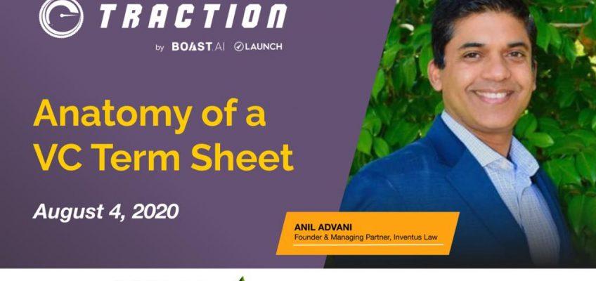 Webinar on Anatomy of a VC Term Sheet
